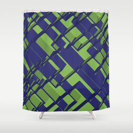 3D Abstract Futuristic Background III Shower Curtain
