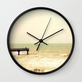 The pier is for fishing Wall Clock