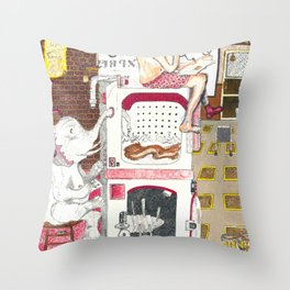 Paitently Waiting for Pants Throw Pillow