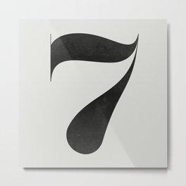 No. 7 Metal Print