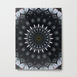Gothic Romance Mandala Metal Print