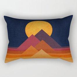 Full moon and pyramid Rectangular Pillow