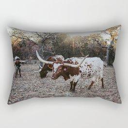 Longhorns Rectangular Pillow