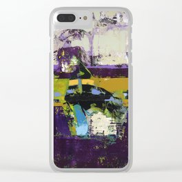 Controversy Prince Deep Purple Abstract Painting Modern Art Clear iPhone Case
