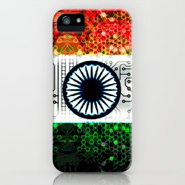 circuit board india (flag) iPhone Case