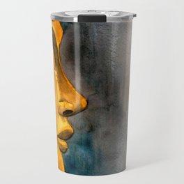 Golden Buddha watercolor illustration Travel Mug