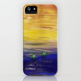 Racing to the sea iPhone Case