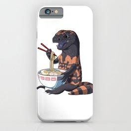 Funny Japanese Kawaii Ramen Gila Monster  iPhone Case