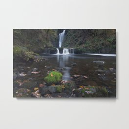 Sgwd Einion Gam Waterfall Country Metal Print