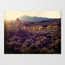October Sunset at Salida Canvas Print