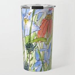 Botanical Garden Wildflowers and Bees Travel Mug
