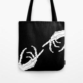 Until Death Do Us Part - Skeleton Hands Tote Bag