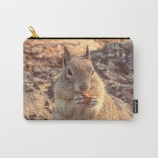 Happy Fluffy Squirrel Carry-All Pouch