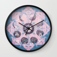 trippy Wall Clocks featuring Trippy by Sara Eshak