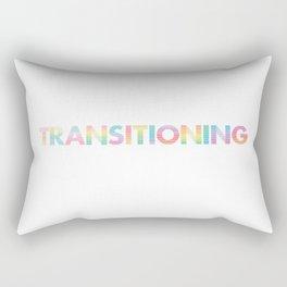 Transitioning w/ black background Rectangular Pillow