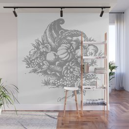 toile tradition grey Wall Mural
