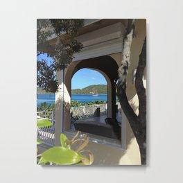 Window View, St. John, USVI Metal Print