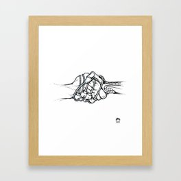 Handholding Framed Art Print