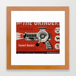 The Grinder (Ad) Framed Art Print