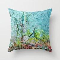 atlas Throw Pillows featuring Atlas by Angela Fanton