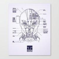 blueprint Canvas Prints featuring Blueprint by CromMorc