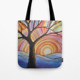 Abstract Art Landscape Original Painting ... Mountain Majesty Tote Bag