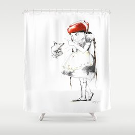 THE WARNING Shower Curtain