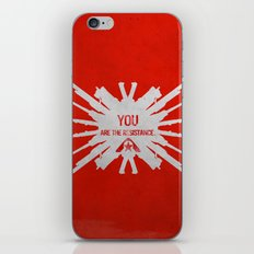 Resistance 3 - You are the resistance. iPhone & iPod Skin