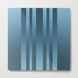 Light blue , blue , striped Metal Print