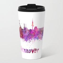 Hannover skyline in watercolor Travel Mug