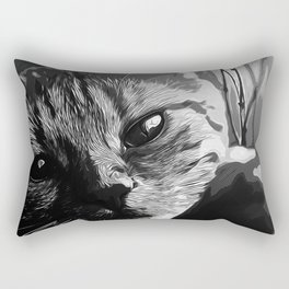 set your cat free vector art black white Rectangular Pillow