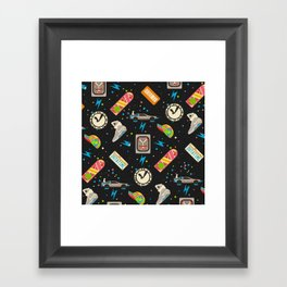 Future Pattern Framed Art Print