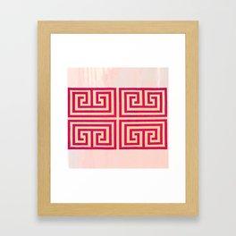 Greek Key Print Framed Art Print