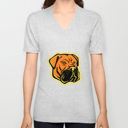 Bullmastiff Dog Mascot Unisex V-Neck