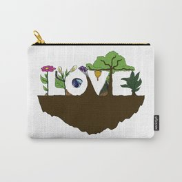 Love for Nature in Negative Space Carry-All Pouch