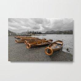 Boats at Derwent Water Metal Print
