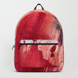 Blushing [2]: a vibrant, minimal abstract in pink, red, and blue details Backpack