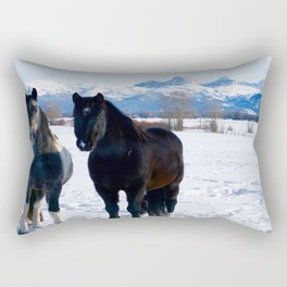 Teton Valley Horses Rectangular Pillow