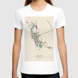 Colorful City Maps: Jeddah, Saudi Arabia T-shirt