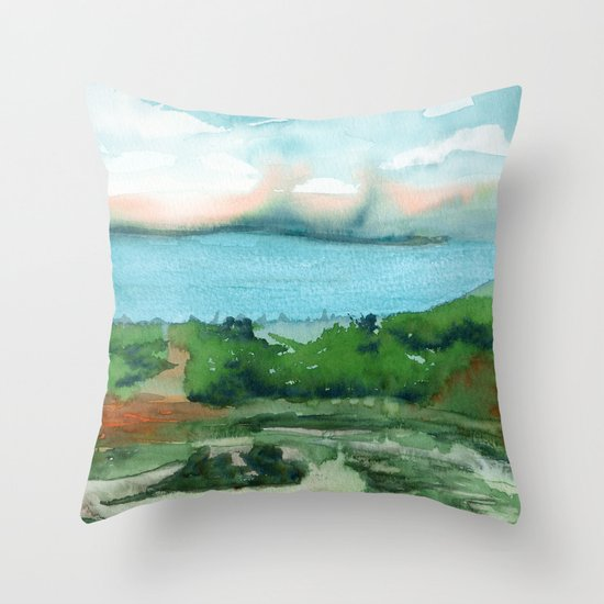 Passing Afternoon Throw Pillow