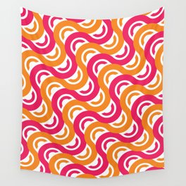 refresh curves and waves geometric pattern Wall Tapestry