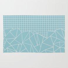 Ab Outline Grid Salty Rug
