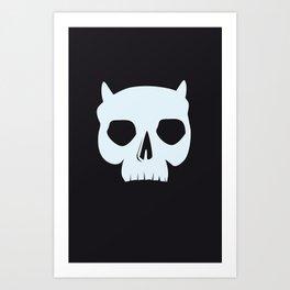 ICY DEMON SKULL Art Print
