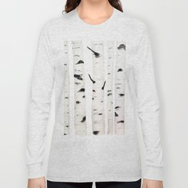 birch  watercolor Long Sleeve T-shirt