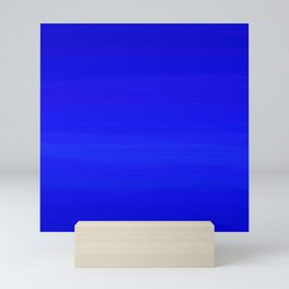 Solid Cobalt Blue - Brush Texture Mini Art Print