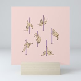 Sloths Pole Dancing Club Mini Art Print