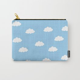 White clouds in blue background Carry-All Pouch