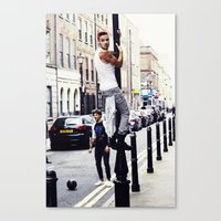 liam payne Canvas Prints featuring Liam Payne by Becca / But-Like-How