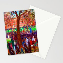 William Glackens Parade Washington Square Stationery Cards