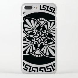 Greek Design Blue Ombre Clear iPhone Case